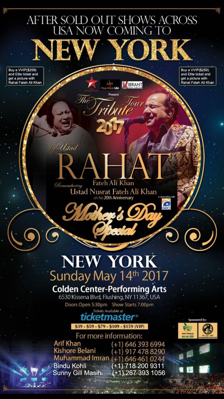 Rahat Fateh Ali Khan Live in Concert in New York 2017