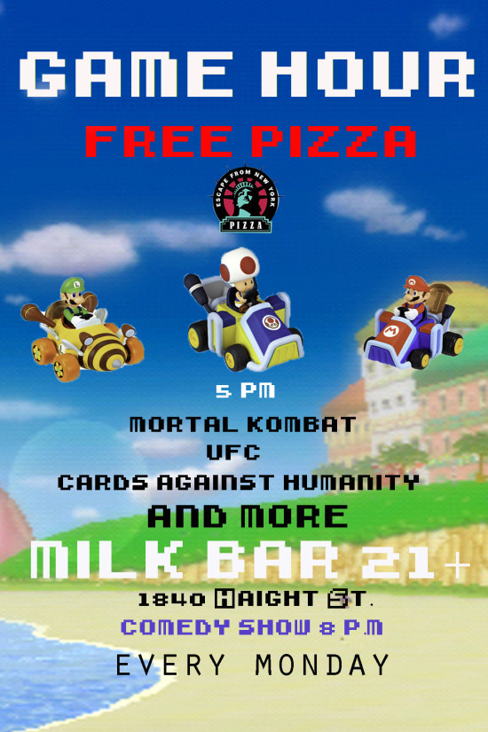 Game Hour: Free Pizza, Games & Comedy Night