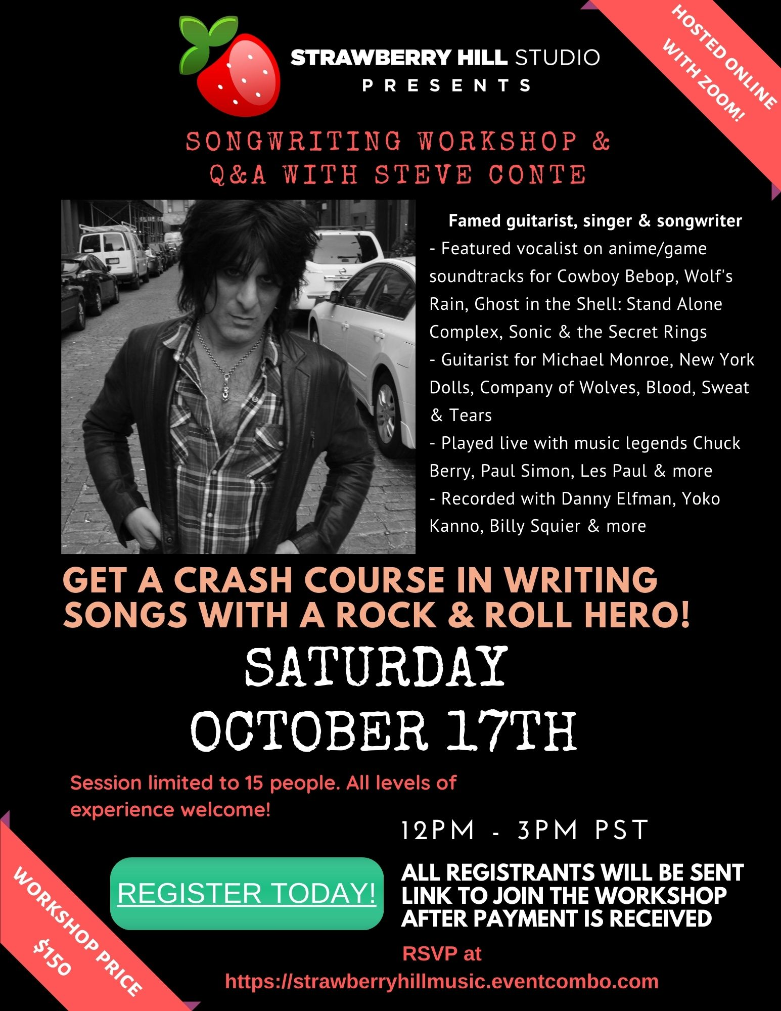 Songwriting Workshop & Q&A w/ Steve Conte