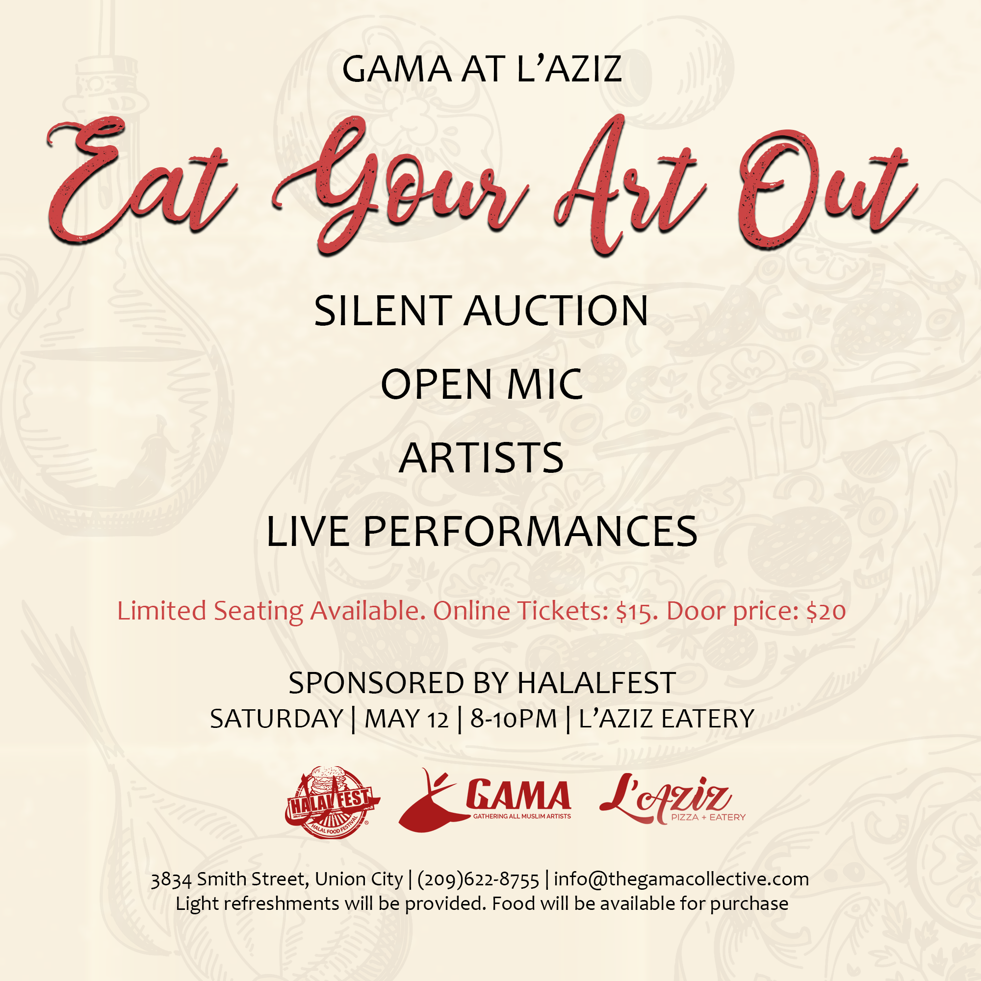 GAMA at L'Aziz: Eat Your Art Out