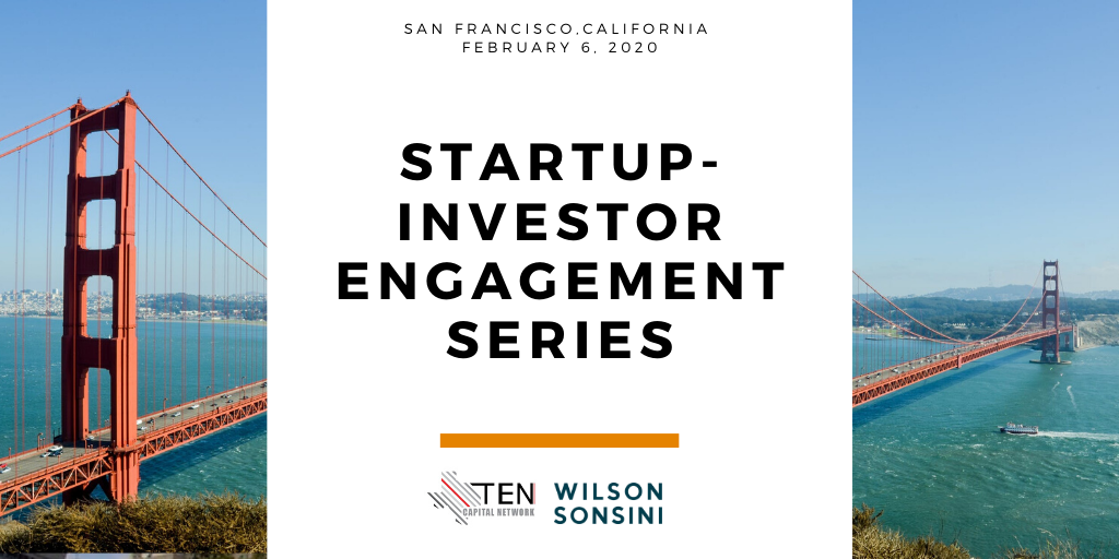 San Francisco: TEN Capital Startup-Investor Engagement Series