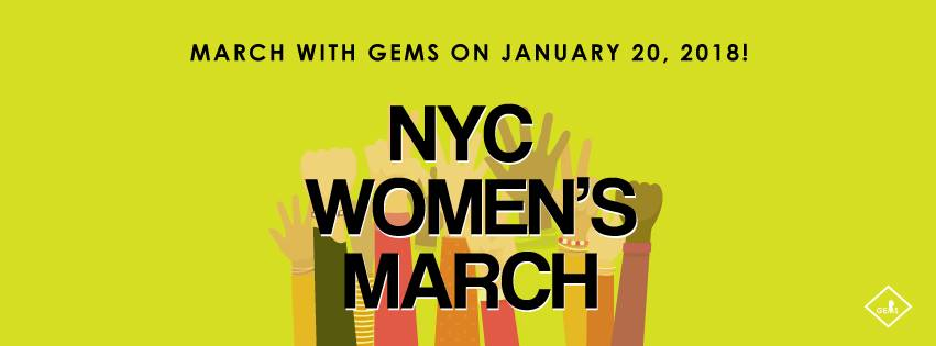 2018 Women's March on NYC: RSVP to join GEMS!