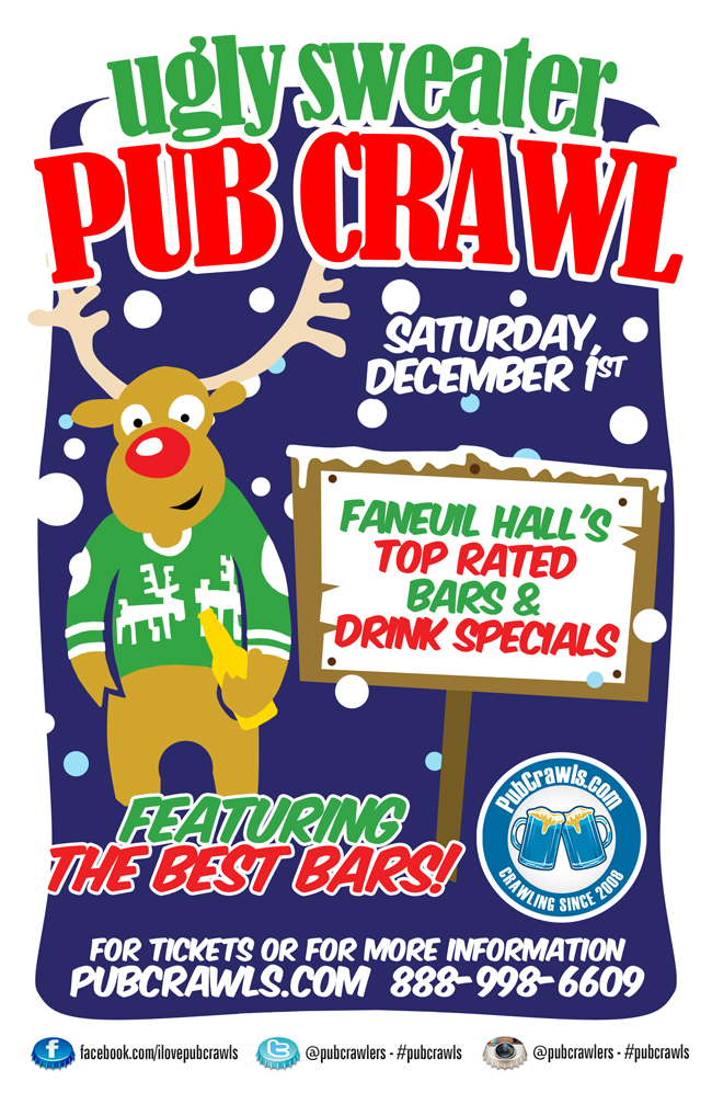 5th Annual Ugly Sweater Pub Crawl Boston
