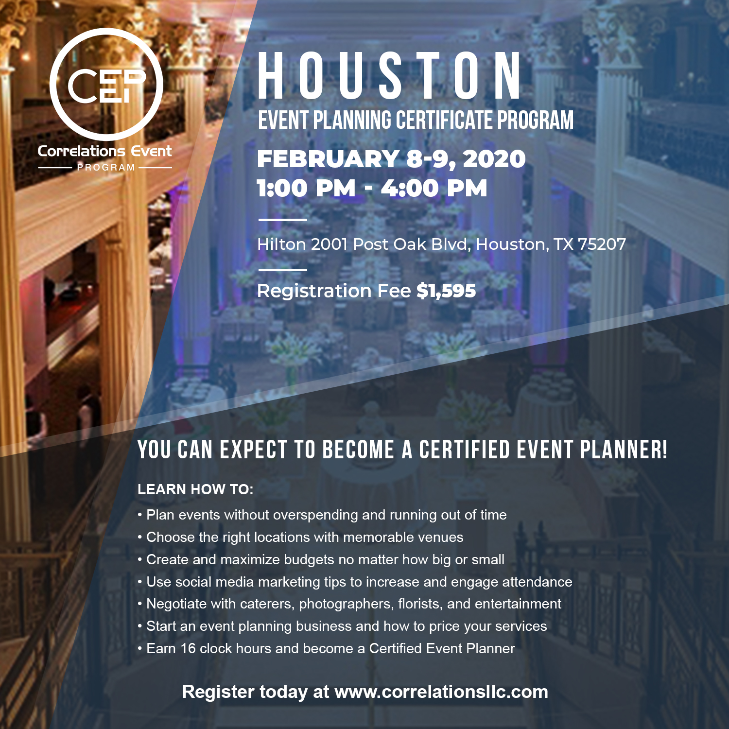 2 Day Houston Event Planning Certificate Program
