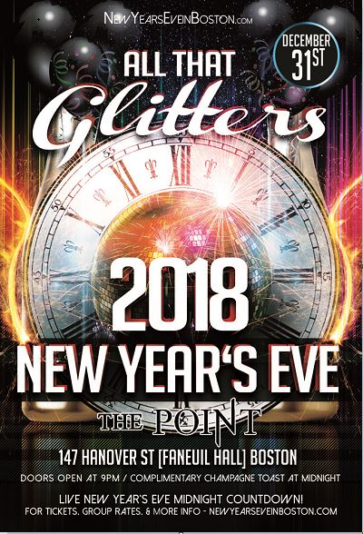 """All That Glitters"" New Year's Eve 2018 at The Point in Boston"