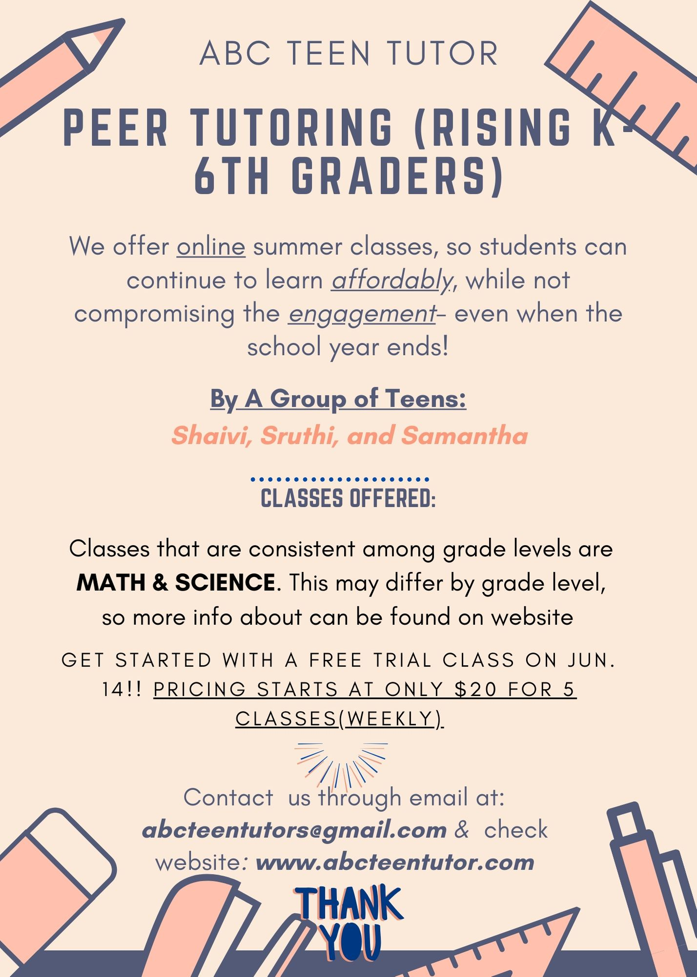 5-6th Grade  Math Summer camp