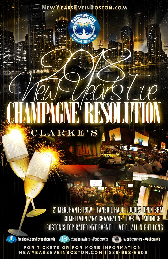 "3rd Annual ""Champagne Resolution"" NYE at Clarke's"