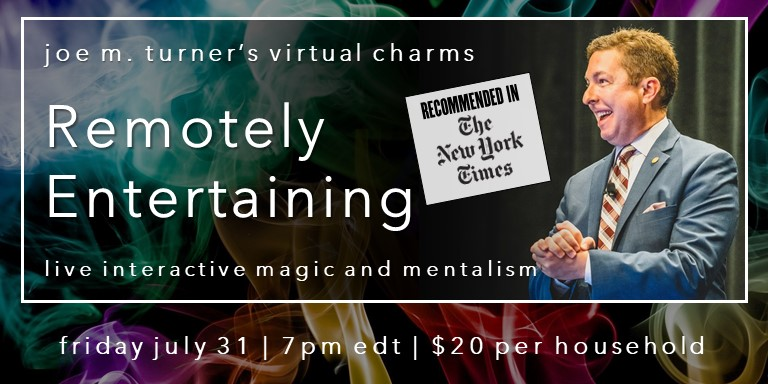 Remotely Entertaining: virtual magic as seen in NYTimes