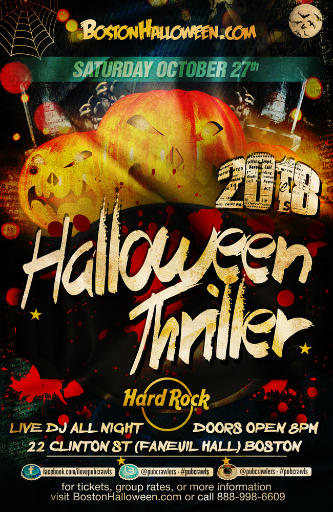 4th Annual Halloween Thriller at Hard Rock Boston (Faneuil Hall)
