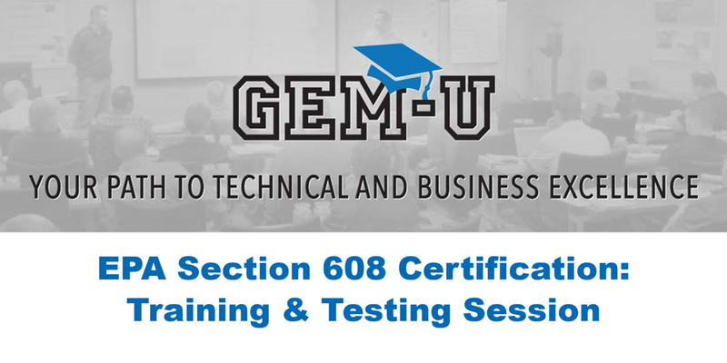 EPA Section 608 Training & Testing