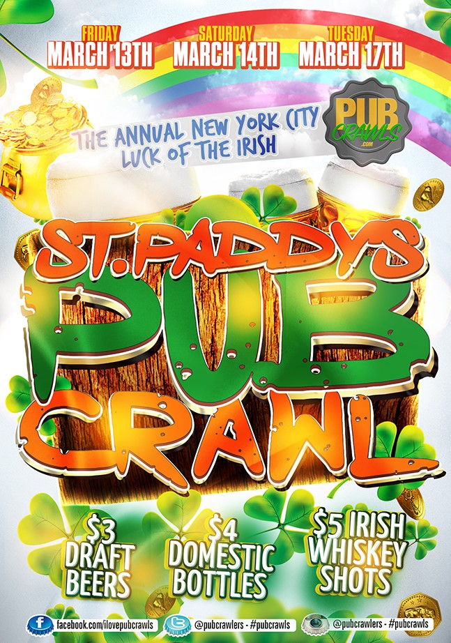 "New York City St Paddy's ""Luck of the Irish"" Pub Crawl"