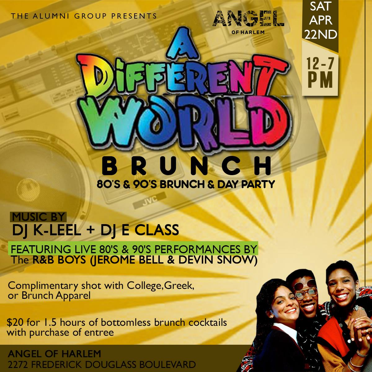 A Different World Brunch & Day Party