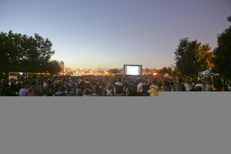 Outdoor Cinema at Socrates Sculpture Park