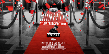 Confetti NYE 2017 Red Carpet Affair at Proof Rooftop Lounge