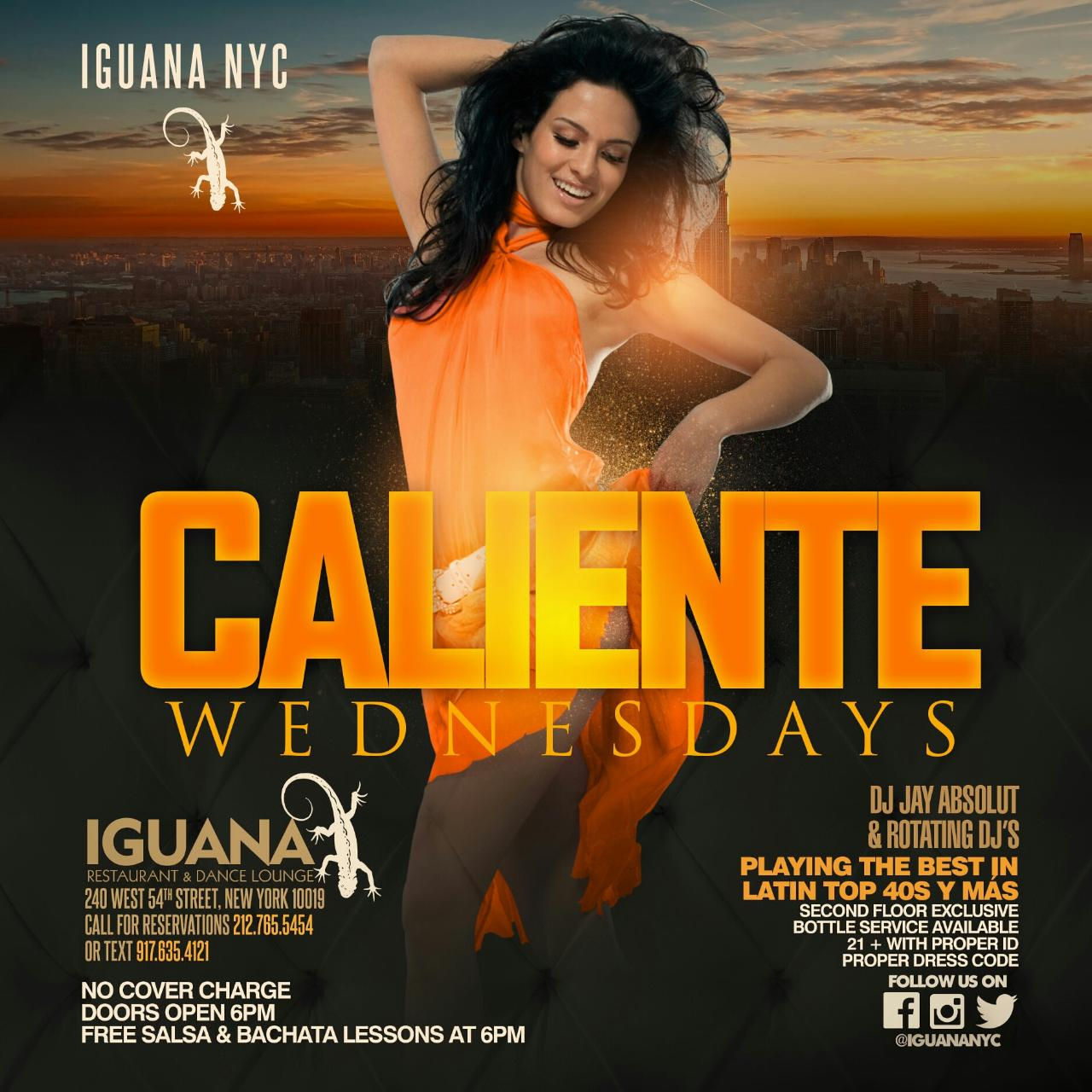 Caliente Wednesdays @ Iguana NYC