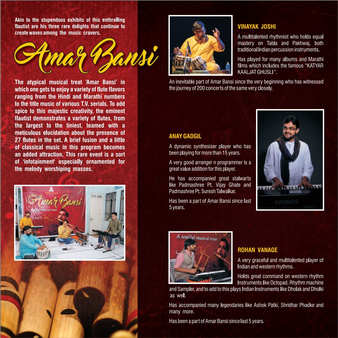 Amar Bansi - BMM USA tour, Hosted by Swarashruti