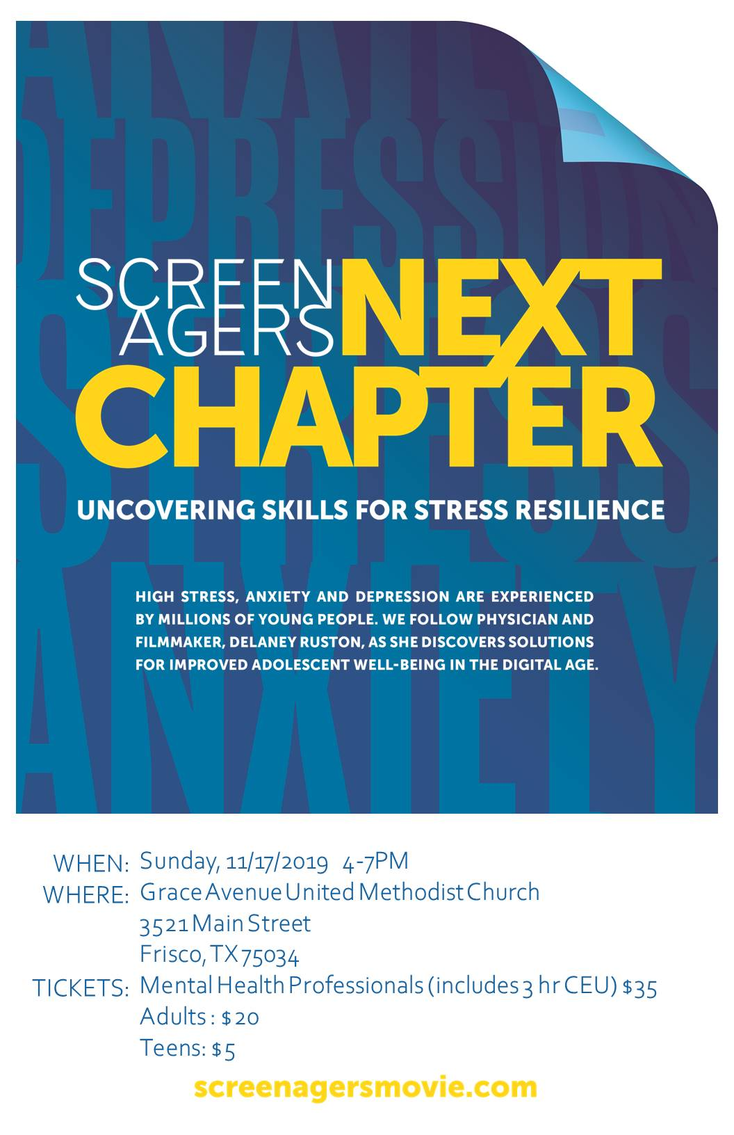 Screenagers Next Chapter By: Spero Counseling Services and Planting Seeds Counseling