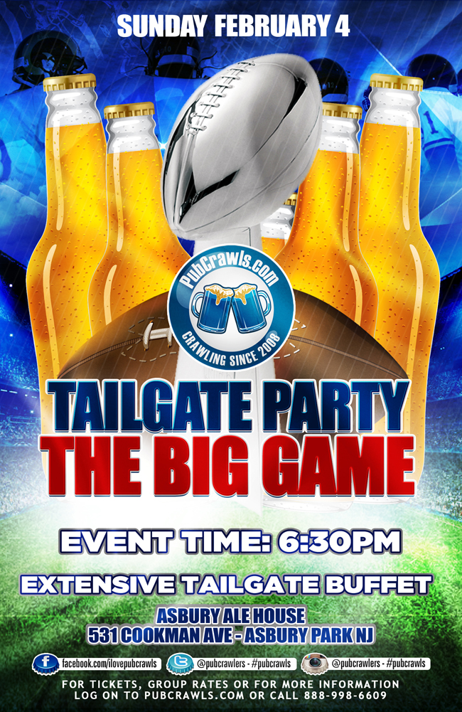 The Big Game Indoor Tailgate Party at Asbury Ale House