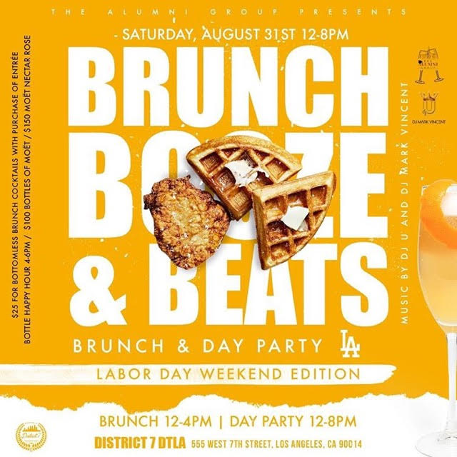 Brunch Booze & Beats Bottomless Brunch & Day Party