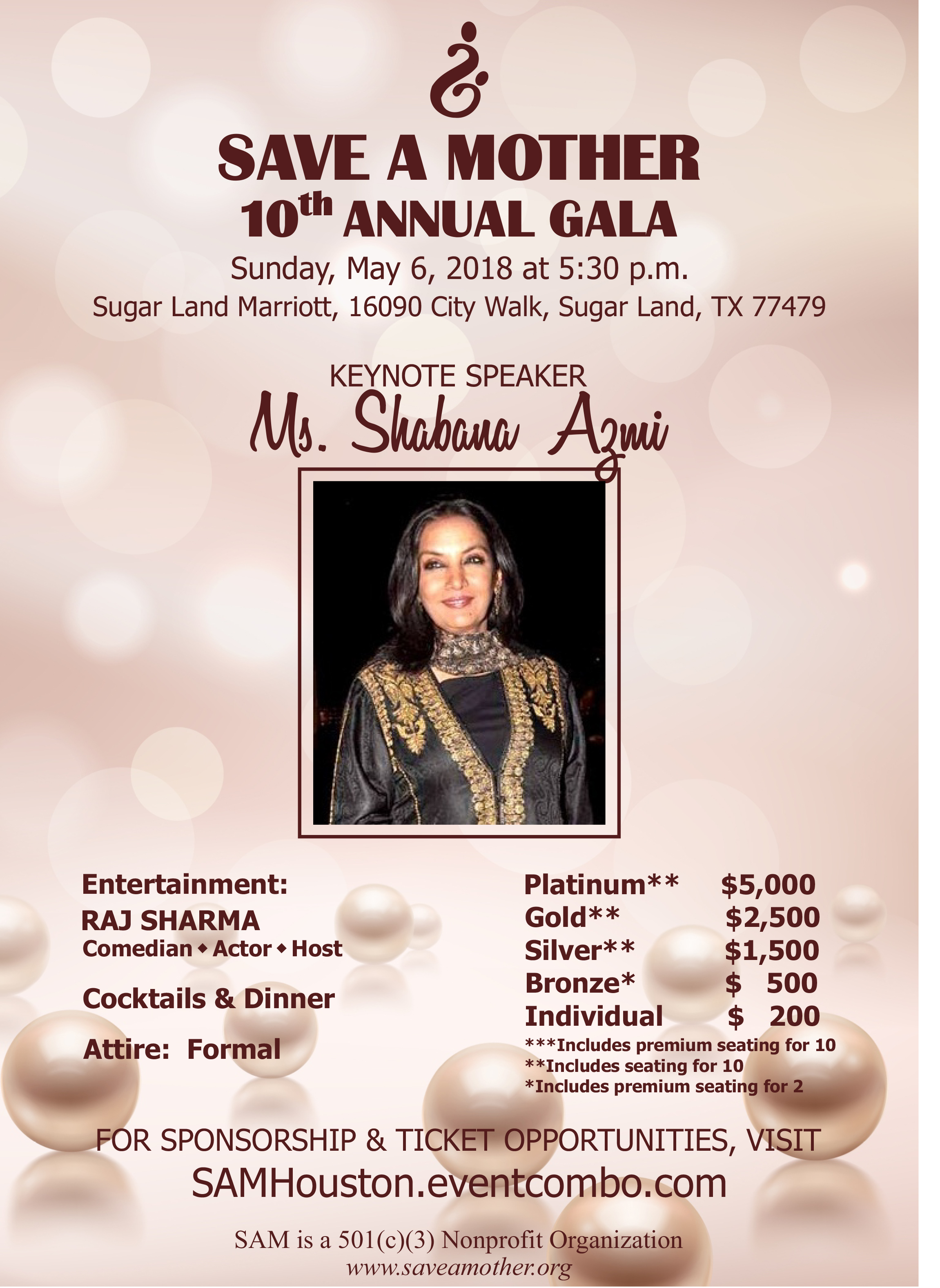 Save A Mother 10th Annual Gala in Houston