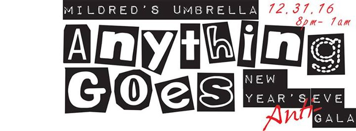 Anything Goes New Year's Eve Party at Mildred's Umbrella Theater Company