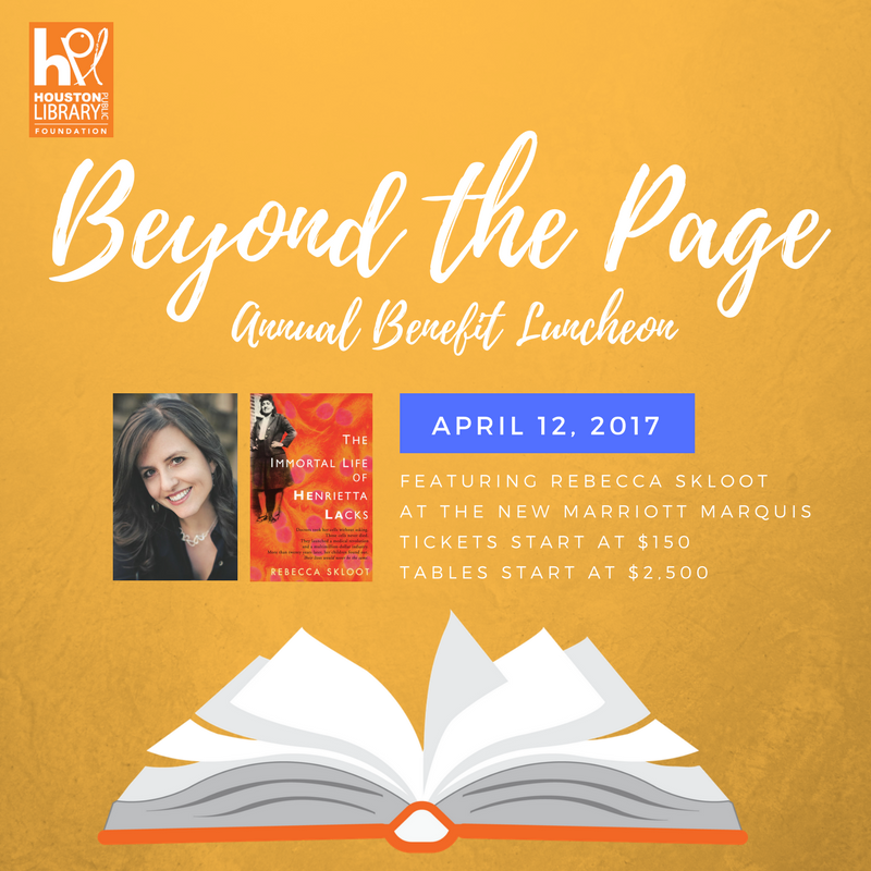 Houston Library Foundation's Beyond the Page Luncheon