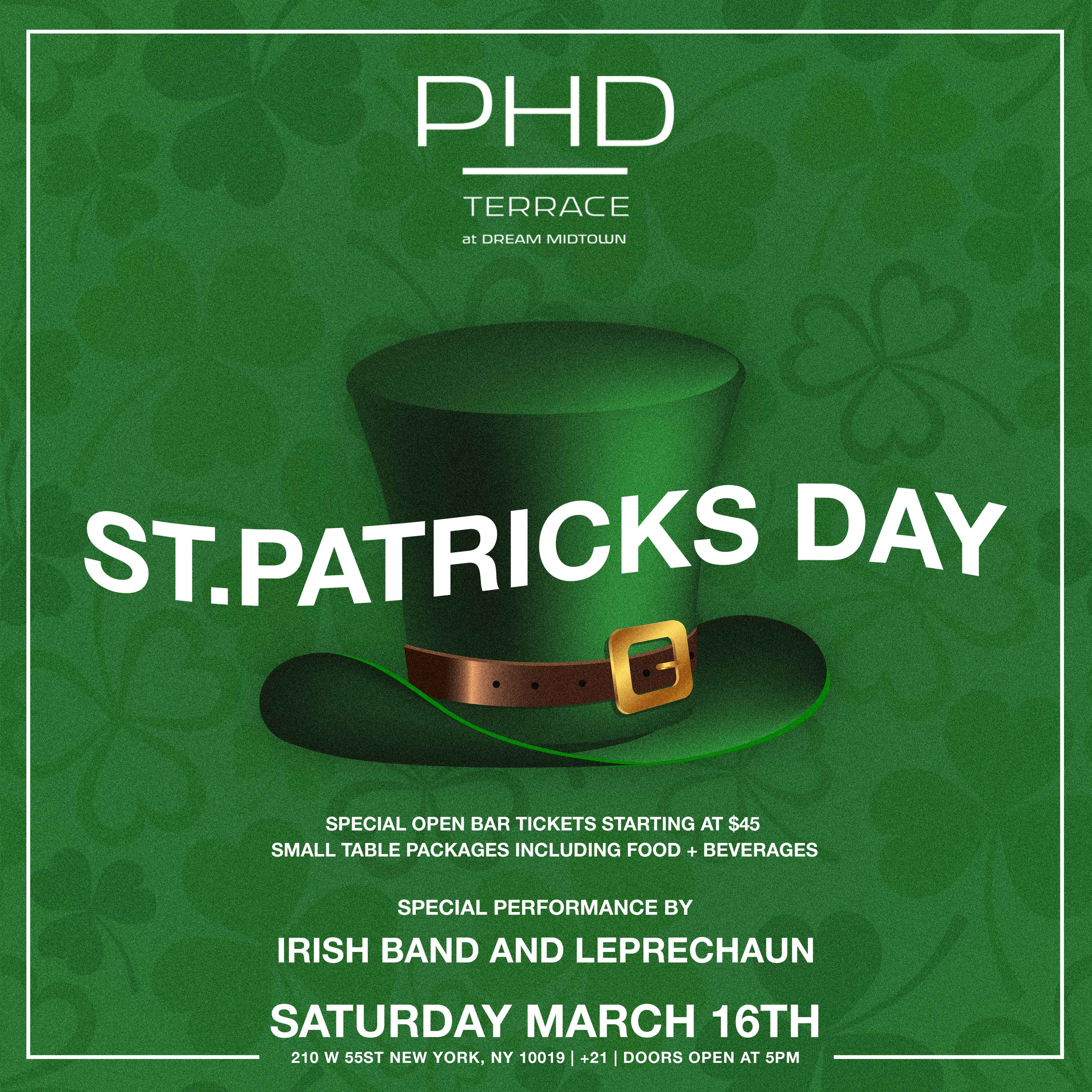 St.Patrick's Day At PHD Terrace Dream Midtown