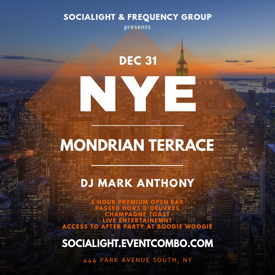 New Year's Eve at The Mondrian Terrace