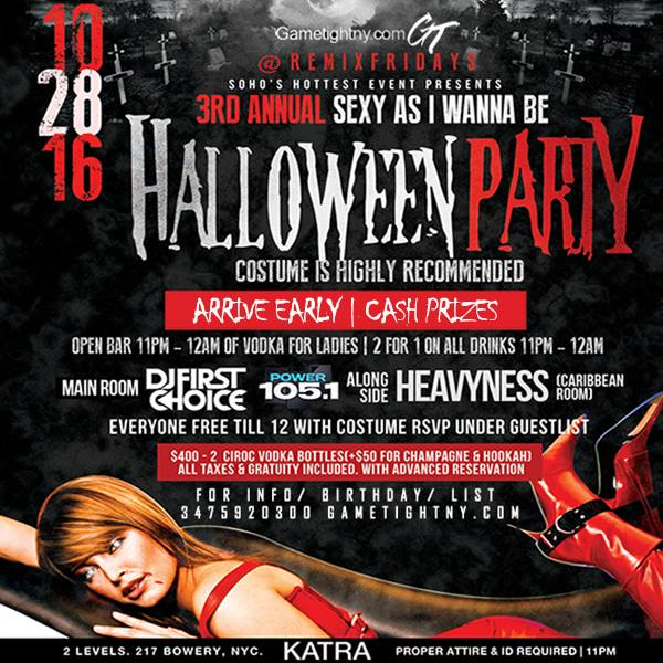 Katra Friday Halloween Party Everyone free Till Midnight on List