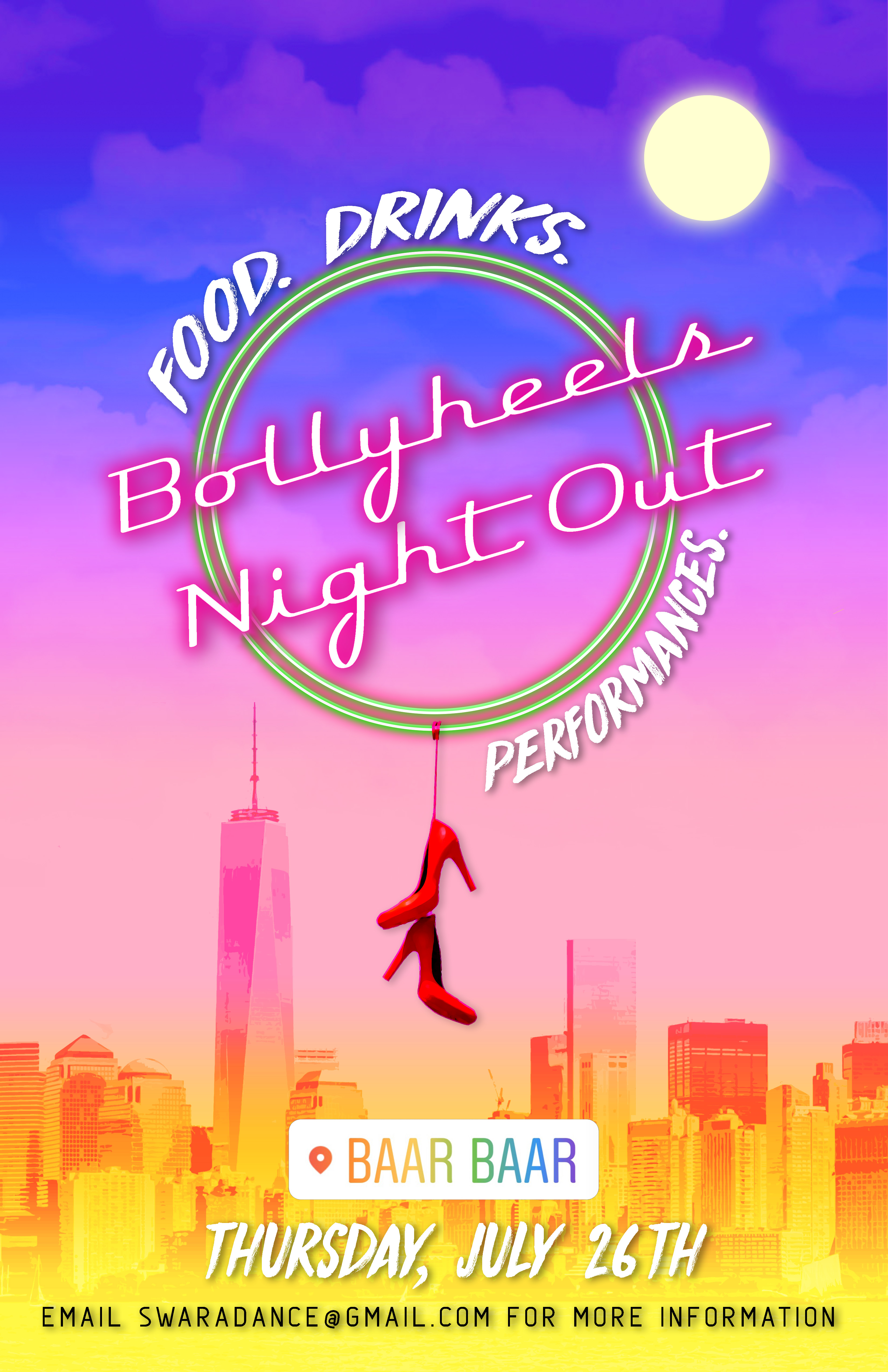 BOLLYHEELS NIGHT OUT!