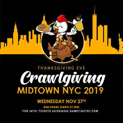 NYC Thanksgiving Eve Pub Crawl 2019 only $15