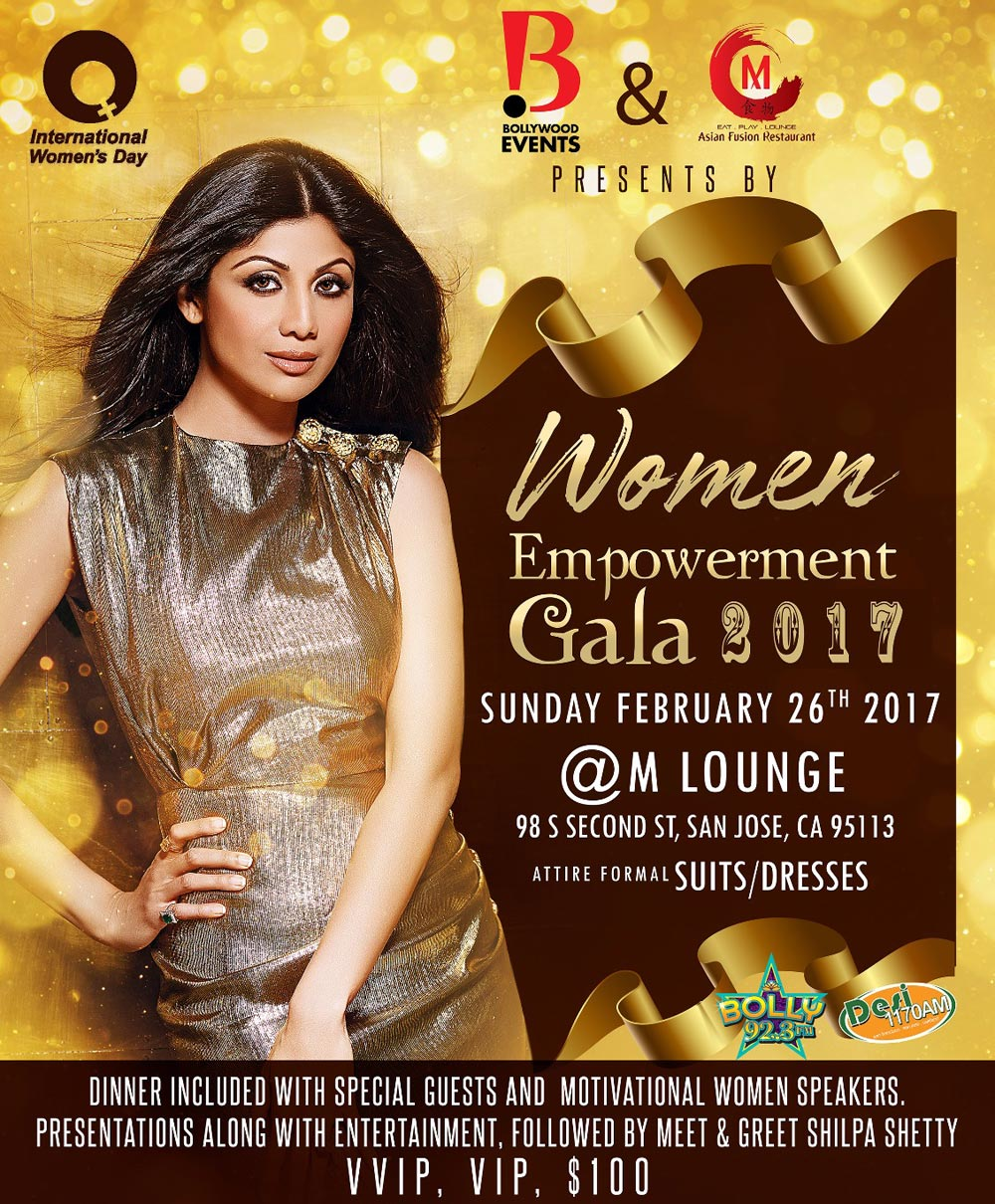Once in a Lifetime Opportunity - An Evening with SHILPA SHETTY Up Close and Personal in Bay Area