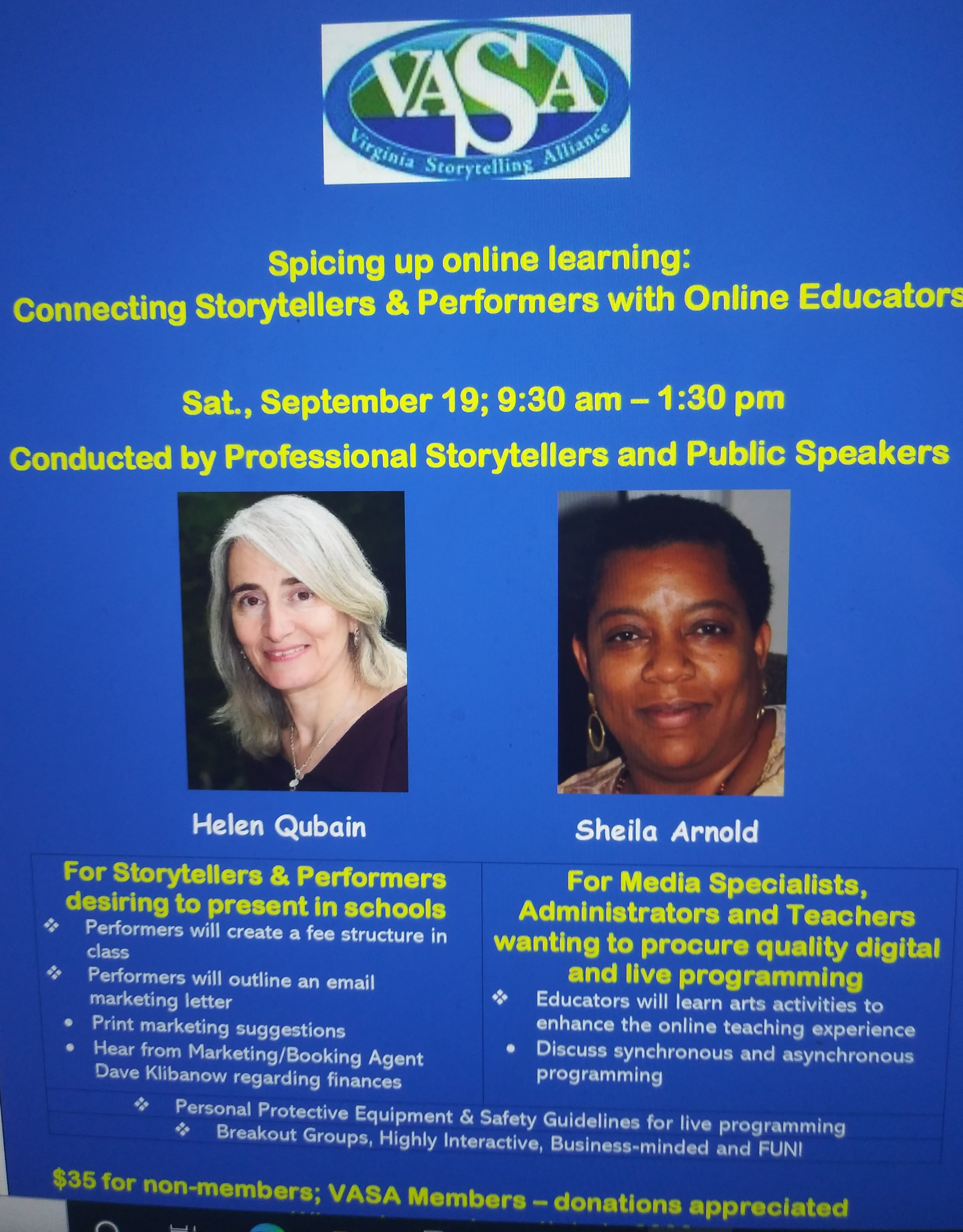 Spicing up online learning:  Connecting Storytellers & Performers with Online Educators