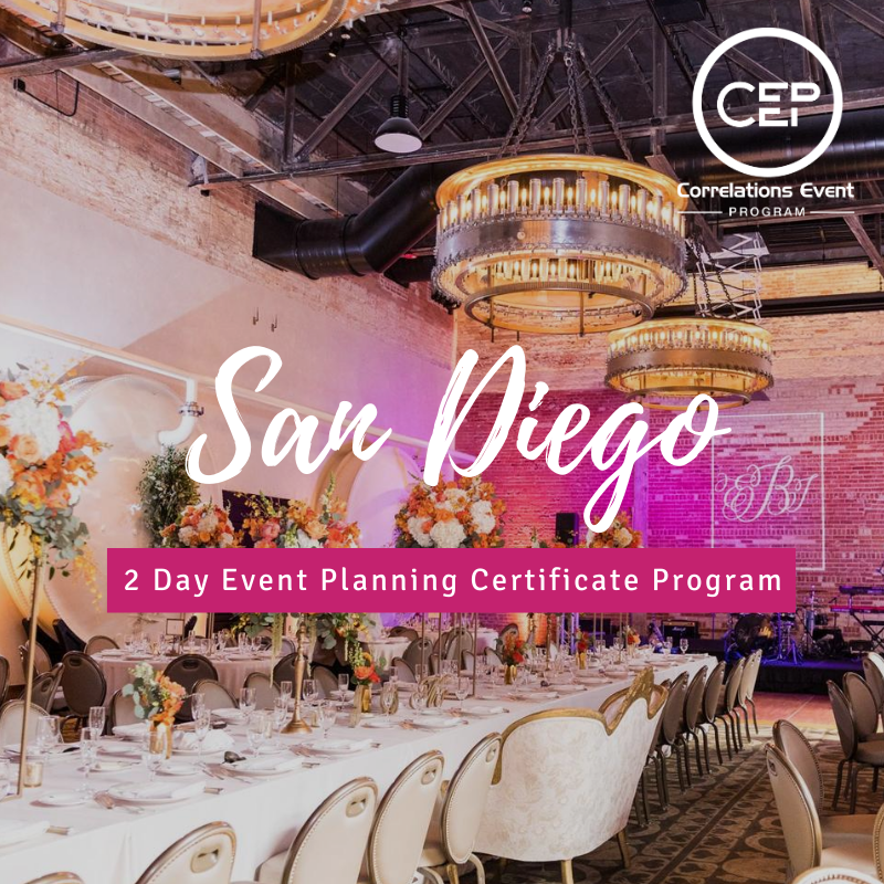 2 Day San Diego Event Planning Certificate Program
