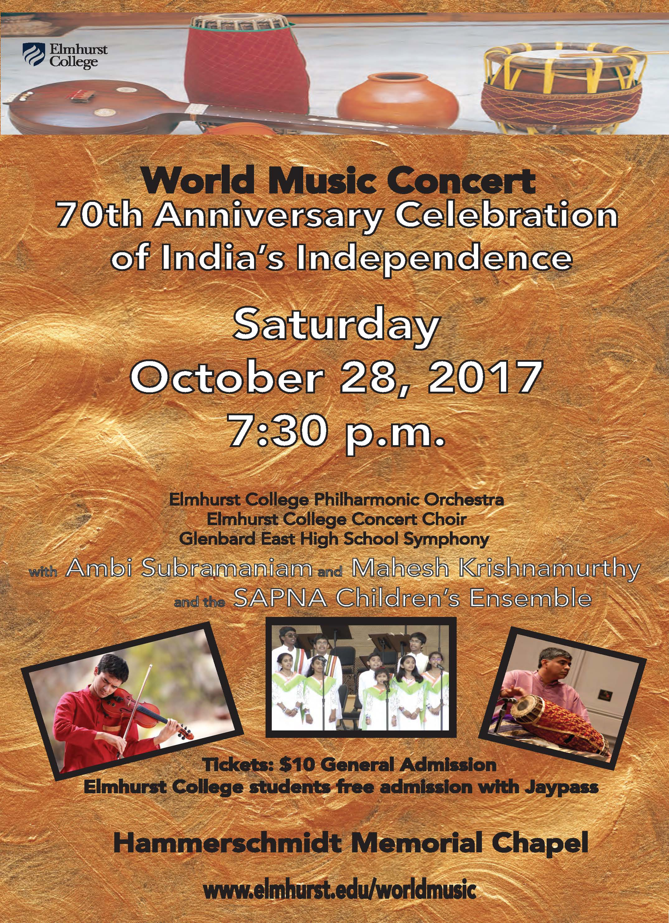 Elmhurst World Music 70th Anniversary of India's Independence 2017