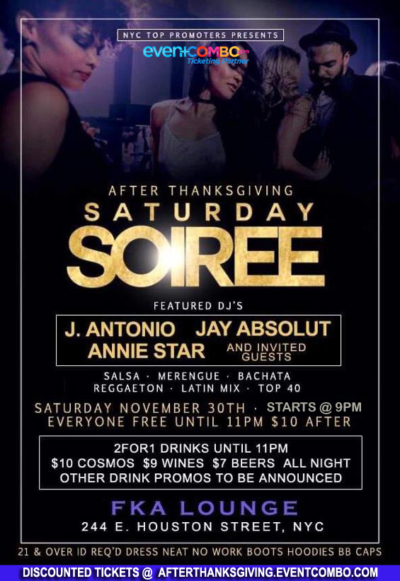 After Thanksgiving Saturday Soiree