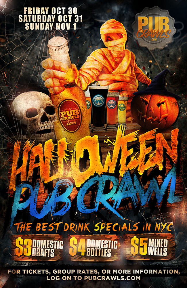 New York City HalloWeekend Bar Crawl 2020
