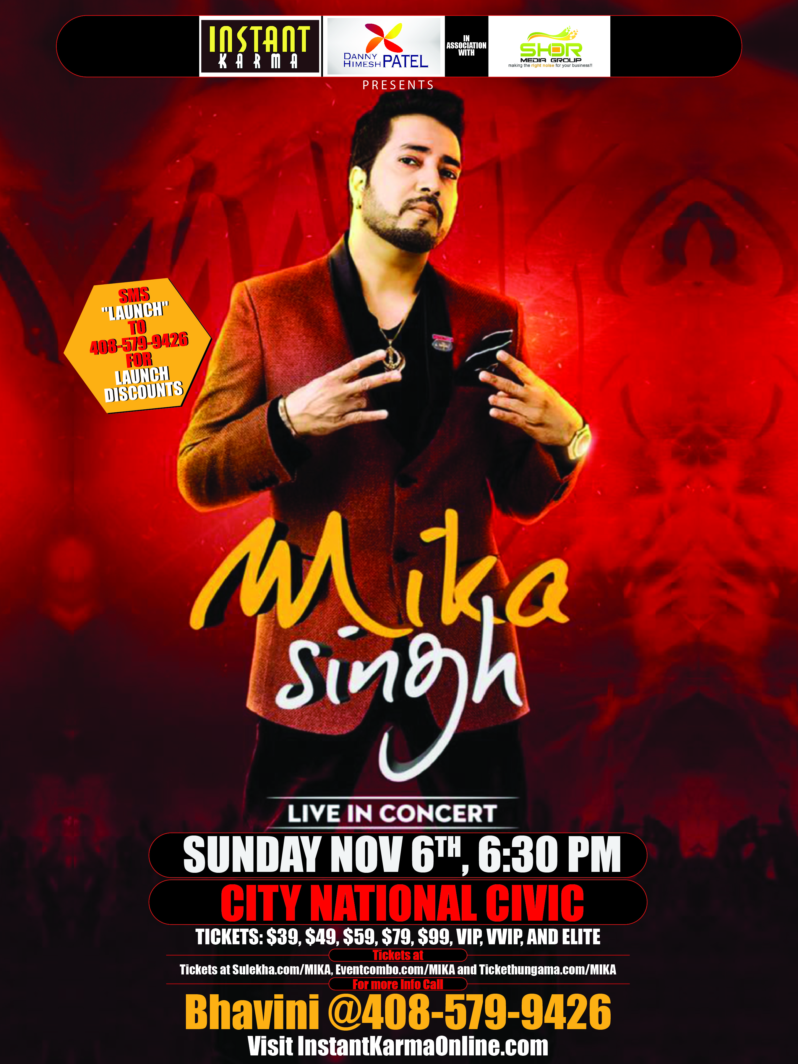 Mika Singh LIVE in Concert in San Jose