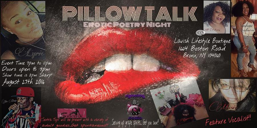"Pillow Talk"" An Erotic Poetry Night!!"