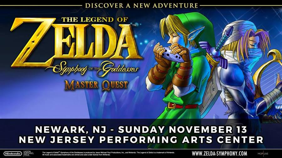 Zelda: Symphony of the Goddesses in Newark, NJ