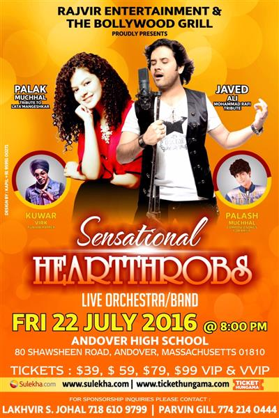 Palak Muchhal and Javed Ali Live in Concert: Sensational Heartthrobs in Massachusettes
