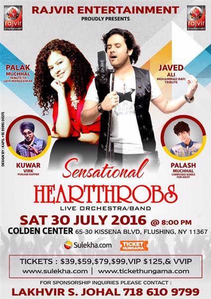 Palak Muchhal and Javed Ali: Sensational Heartthrobs Concert in New York