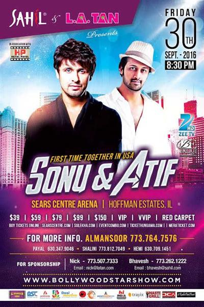Sonu Nigam and Atif Aslam Live in Chicago Concert 2016