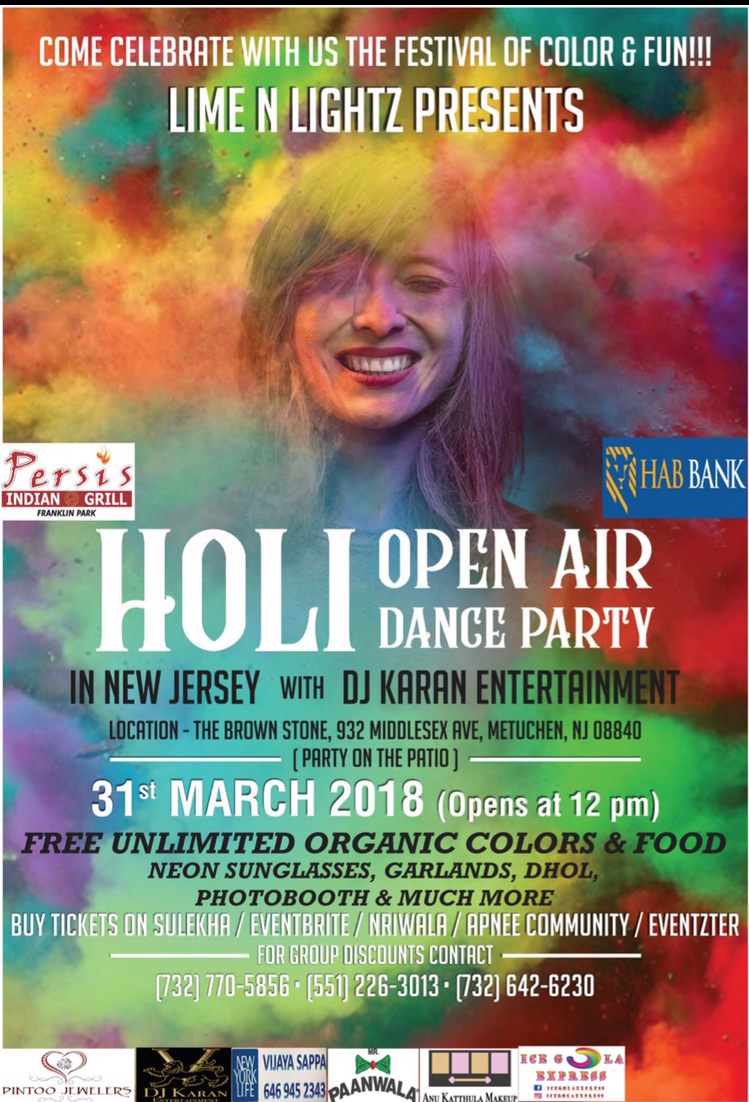 Holi Celebration - Open Air - Party on the Patio