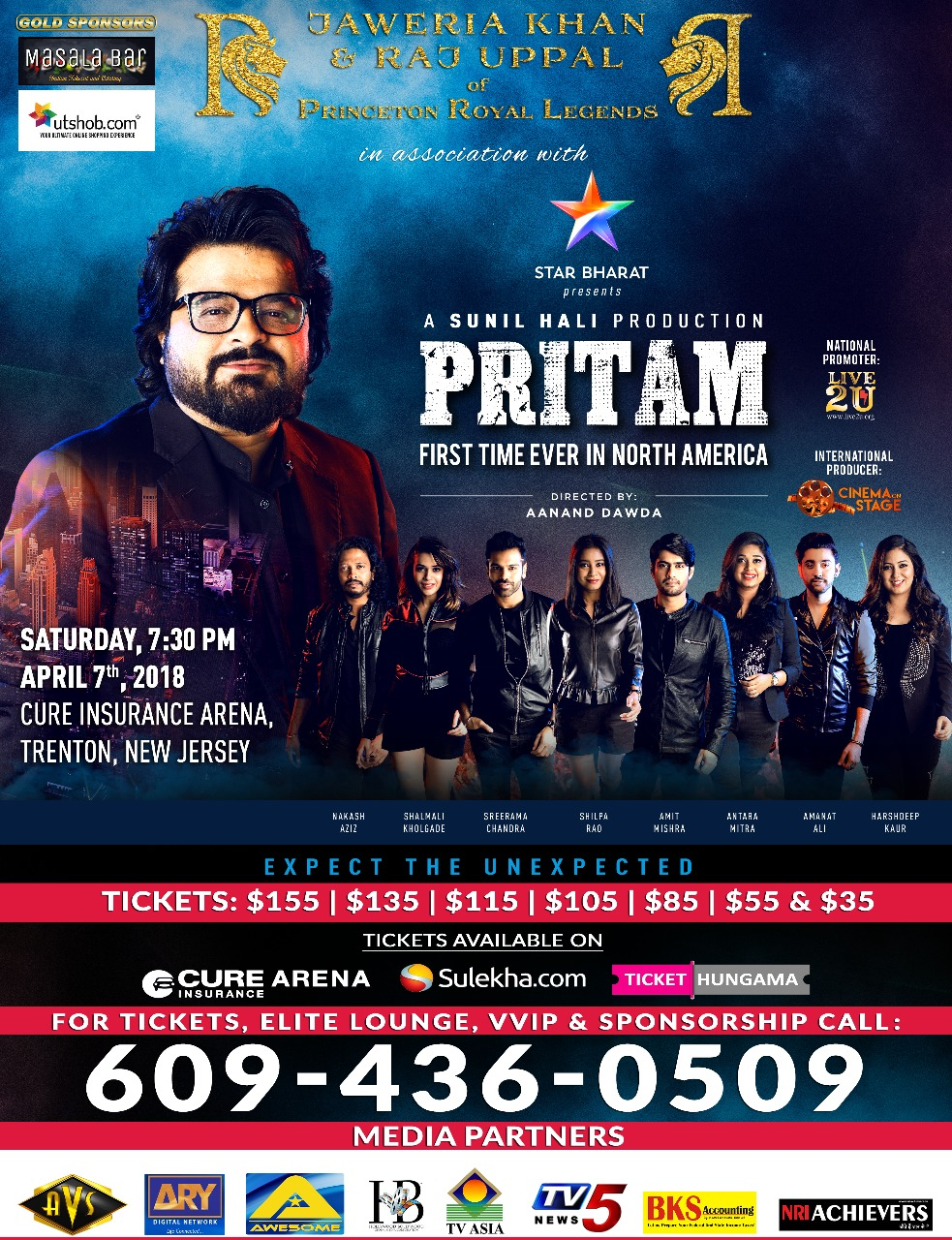 PRITAM LIVE IN MUSIC CONCERT in New Jersey