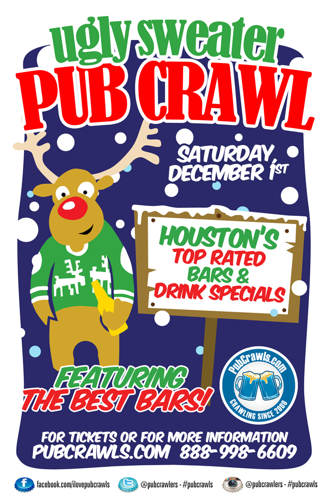 3rd Annual Ugly Sweater Pub Crawl Houston