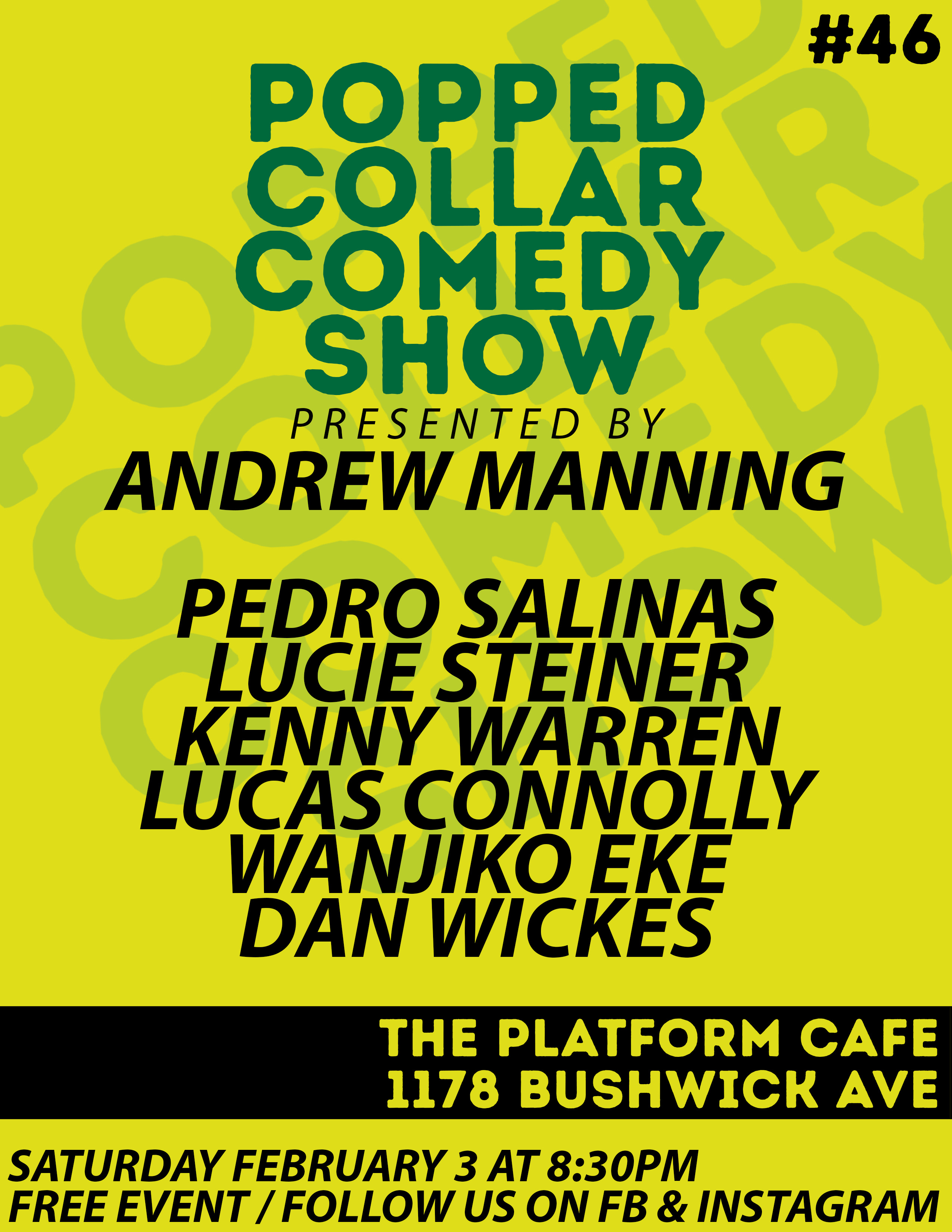 Popped Collar Comedy Show (FREE)