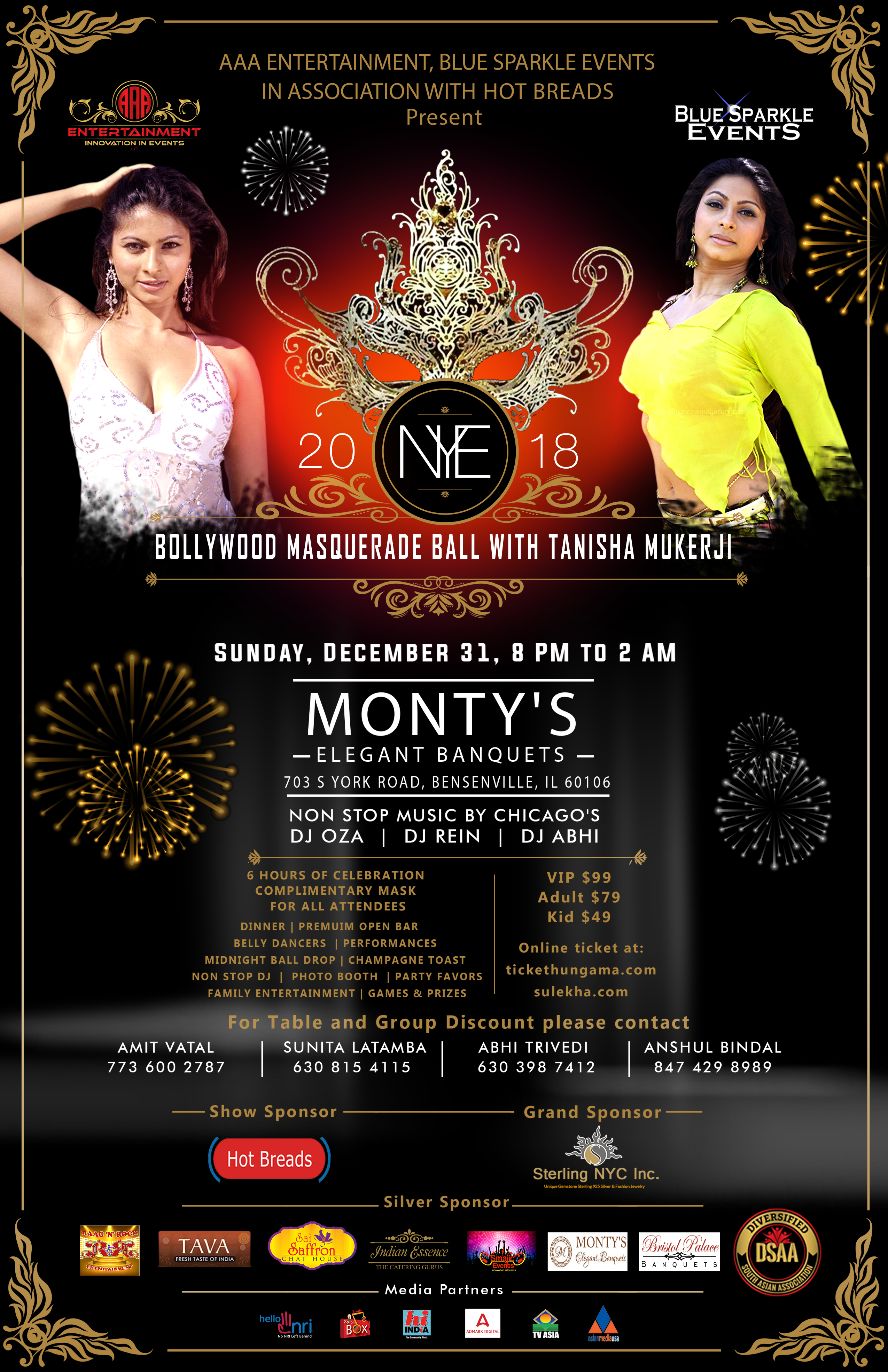 BOLLYWOOD MASQUERADE BALL WITH TANISHA MUKERJI