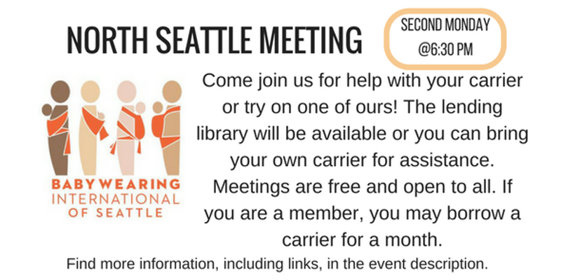 Babywearing International of Seattle: North Seattle Evening Meeting