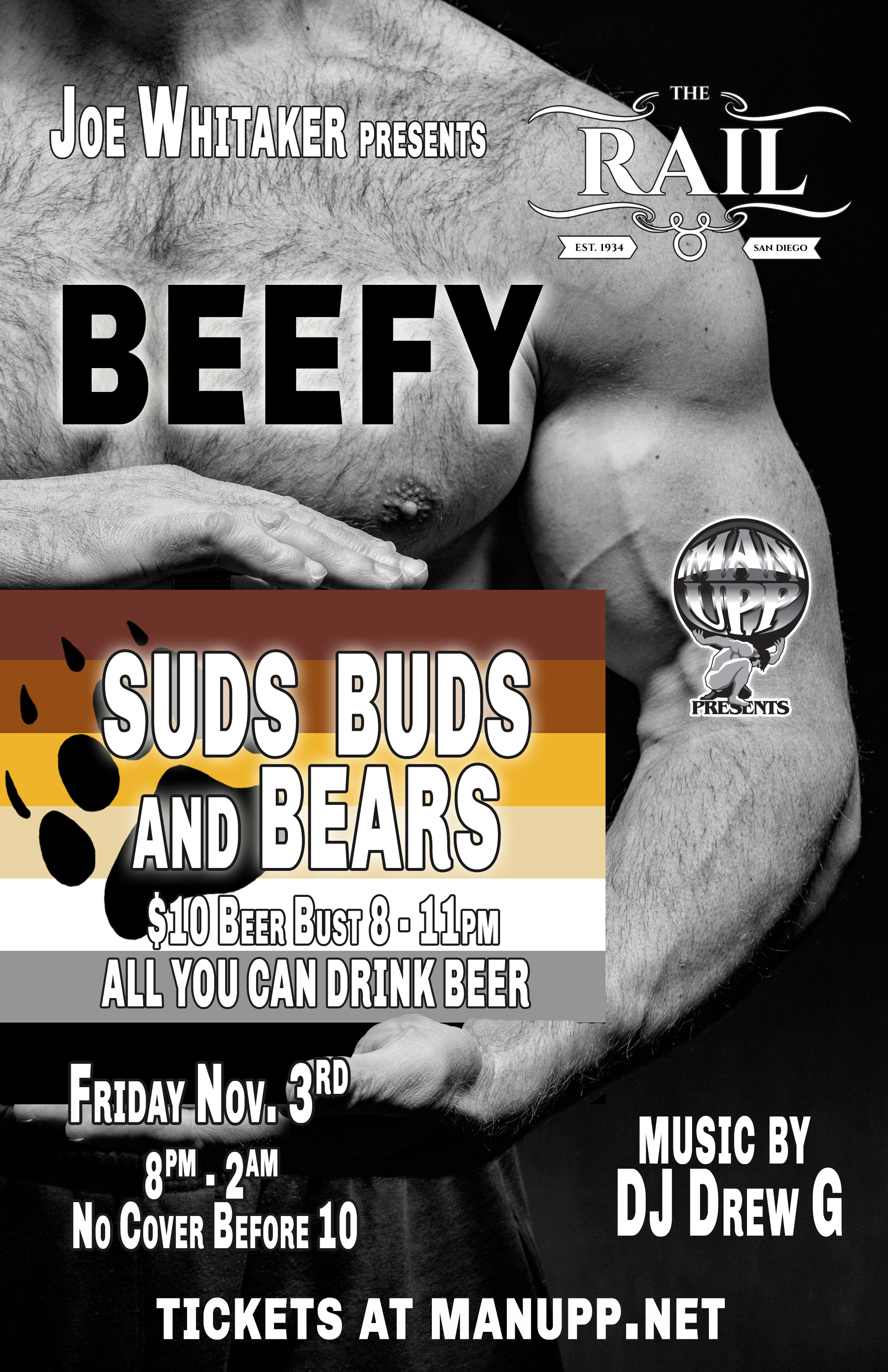 Suds, Buds & Bears San Diego by MAN UPP & Joe Whitaker